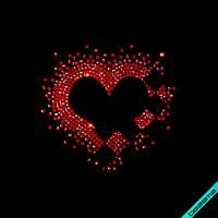 Стразы на белье Сердце 02 (Стекло, ss6-кристалл), фото 1