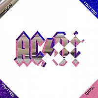 Термонашивка, наклейка на ткань AC DC