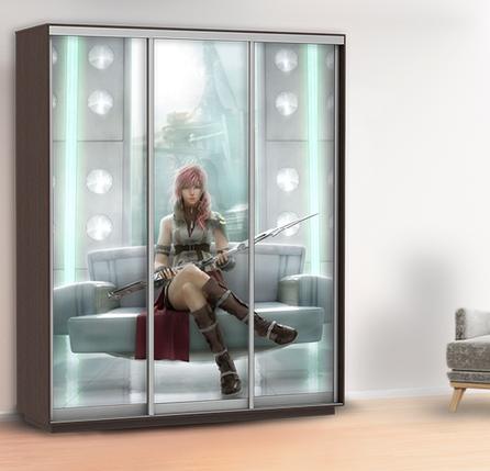 Наклейка в детскую на шкаф, двери, стены 240 х 100 см с защитной ламинацией, фото 2