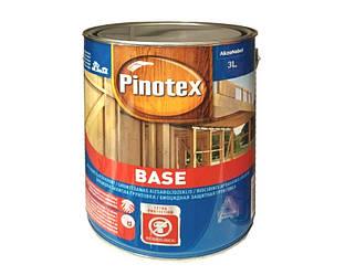 Грунтовка антисептическая PINOTEX BASE для древесины глубокоматовая 3л