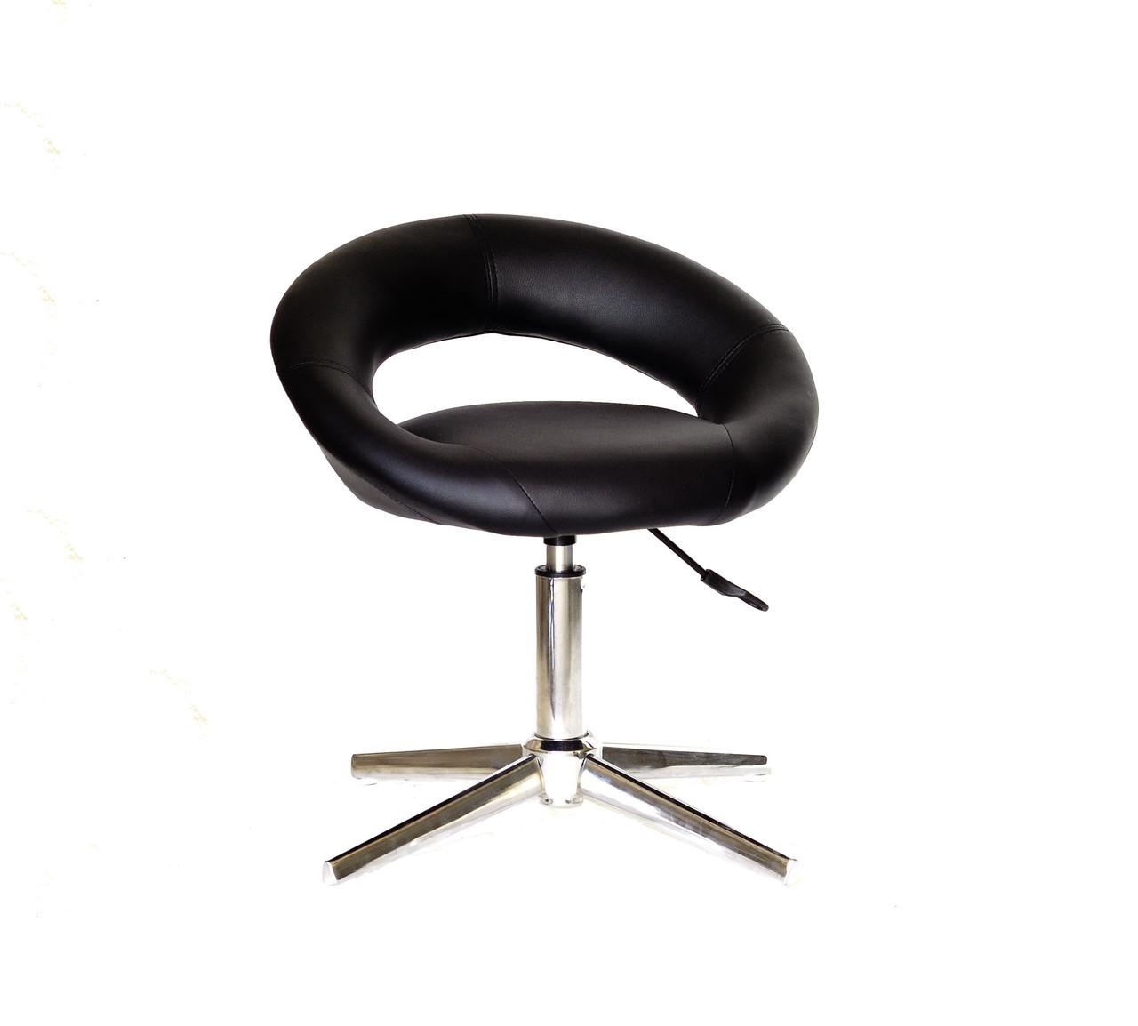 Стильное кресло из эко-кожи на хромированном современном основании с регулировкой высоты HOLY Modern Base