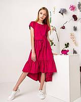 Катоновое платье для девочек. 140- 146 рост.