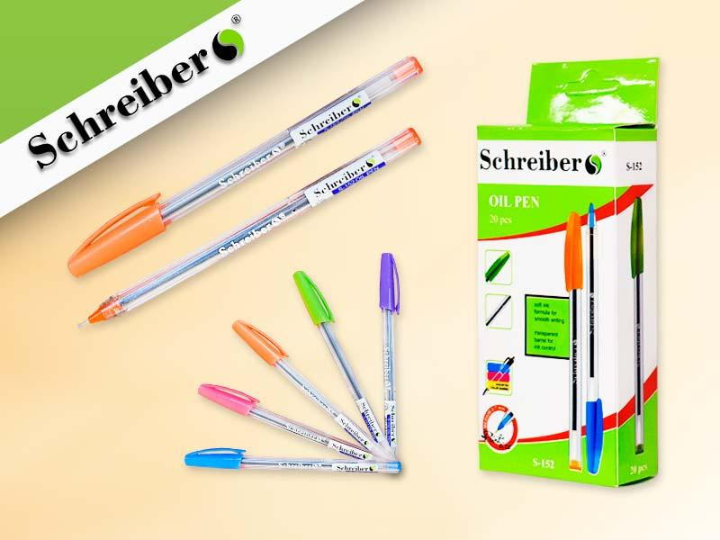 Ручка масляная Schreiber 20шт/уп