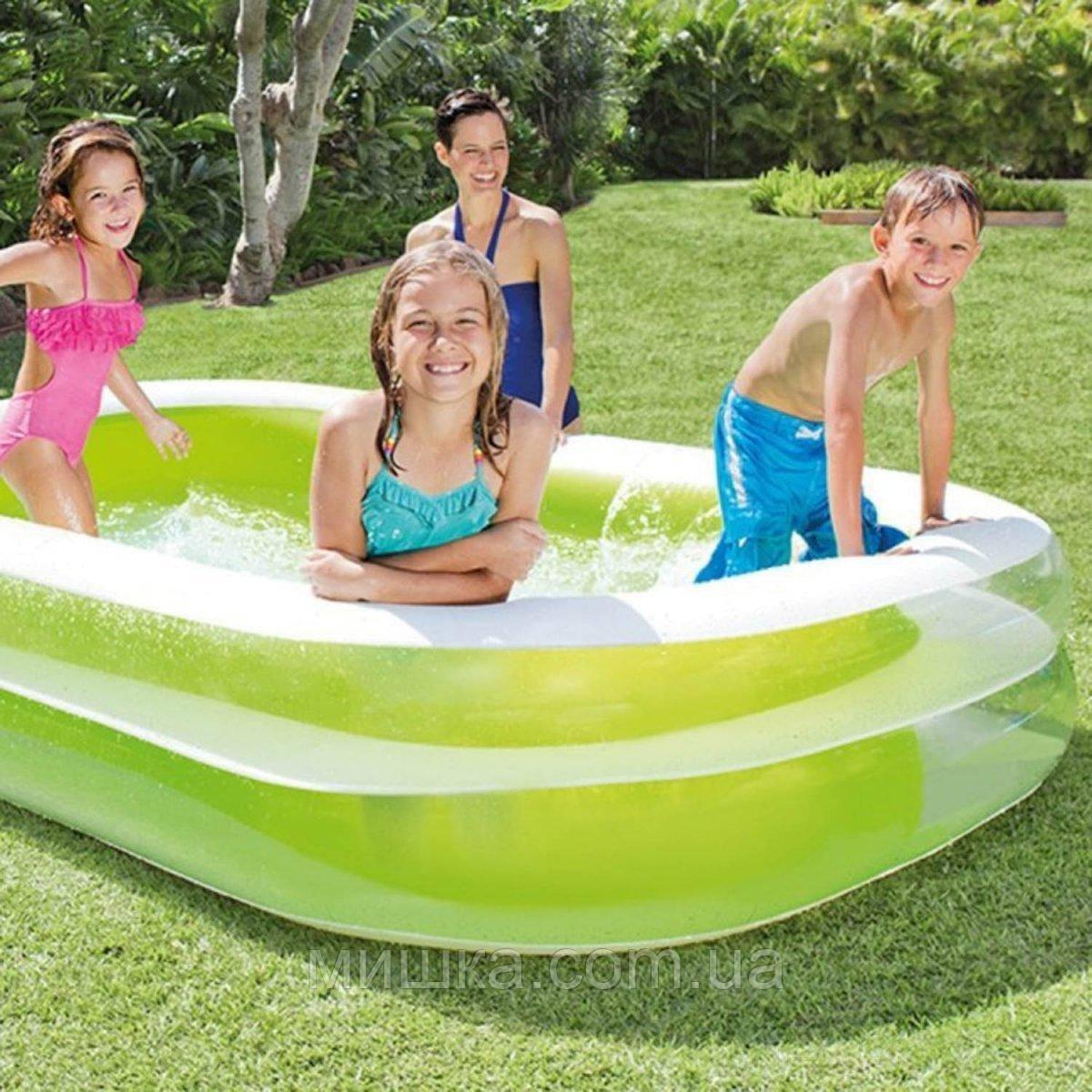 Семейный надувной бассейн 262*175*56 см, INTEX 56483