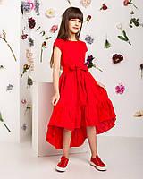 Катоновое платье для девочек. 140-  рост.