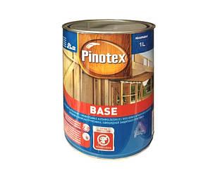 Грунтовка антисептическая PINOTEX BASE для древесины глубокоматоваяая 1л