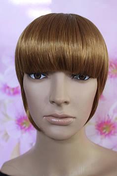 Челка на заколках искусственные волосы золотистый