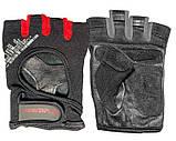 Перчатки для фитнеса и тяжелой атлетики PowerPlay 2222 черные размер M, фото 3