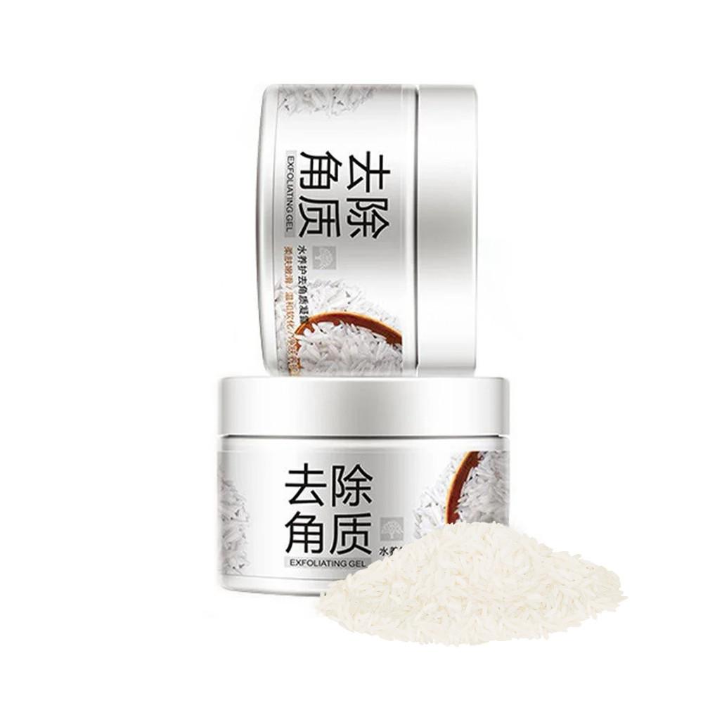 Отшелушивающий скраб-гель скатка BIOAQUA с экстрактом риса 140 г пилинг кожи осветляющий