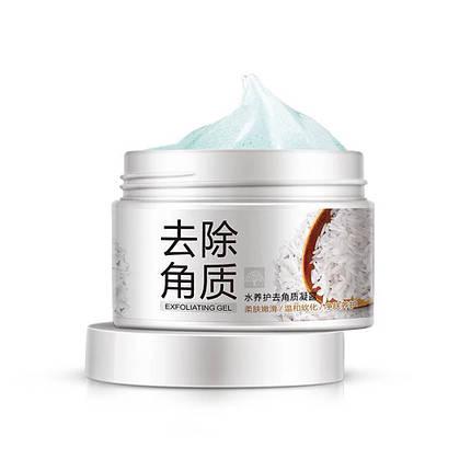 Отшелушивающий скраб-гель скатка BIOAQUA с экстрактом риса 140 г пилинг кожи осветляющий, фото 2