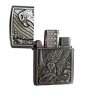 """Зажигалка газовая """"Статуя свободы и Орел"""" серебристый, фото 2"""