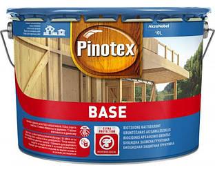 Грунтовка антисептическая PINOTEX BASE для древесины глубокоматовая 10л