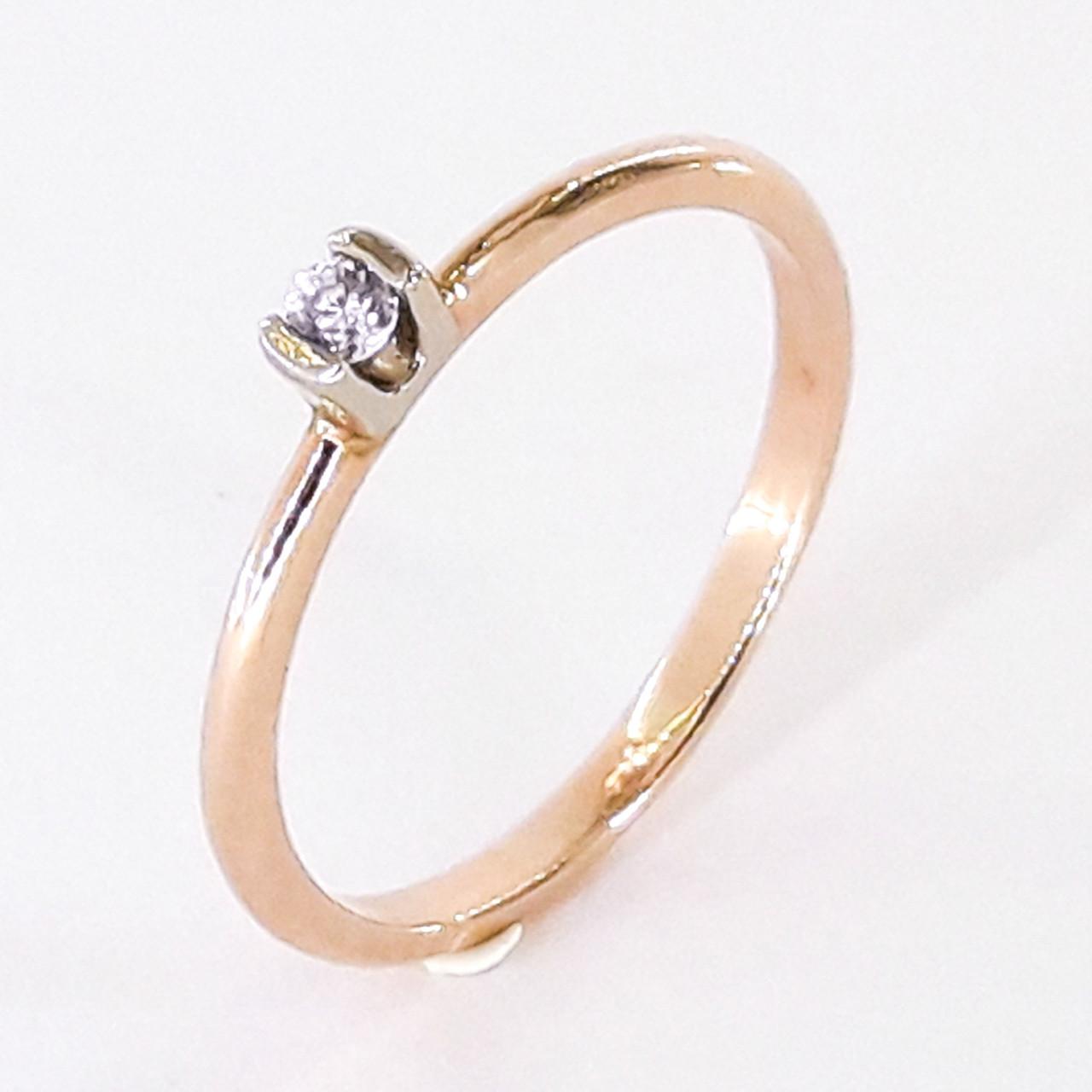 Золоте кольцо 585 проби 17 розмір