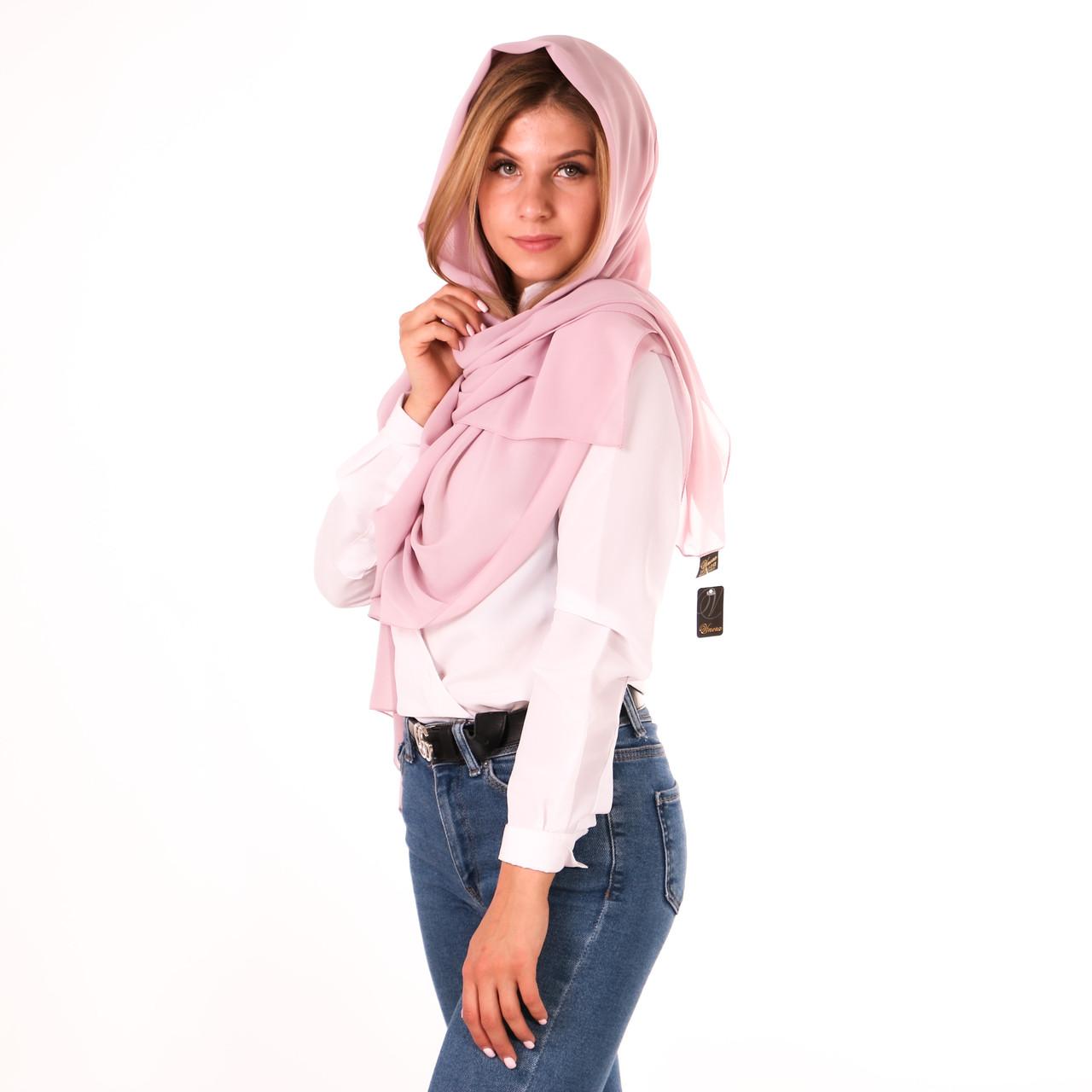 Шарф шифоновий рожевий sh/72