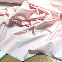 Ткань кожа лакированная латекс розовый