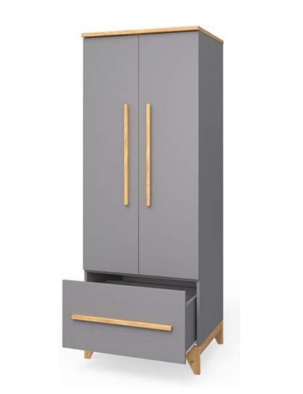 Шкаф для одежды в детскую Мила серый