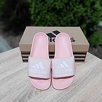 Шлепанцы женские в стиле Adidas розовые, фото 1