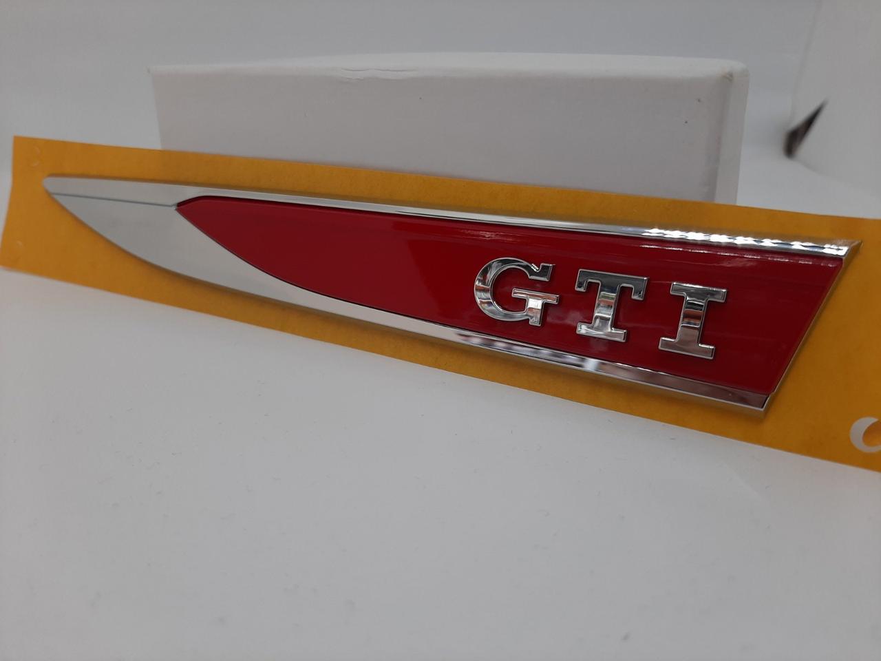"Эмблема логотип надпись на крыло ""GTI"" : комплект 2шт Оригинал!"