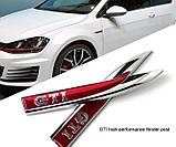 "Эмблема логотип надпись на крыло ""GTI"" : комплект 2шт Оригинал!, фото 2"