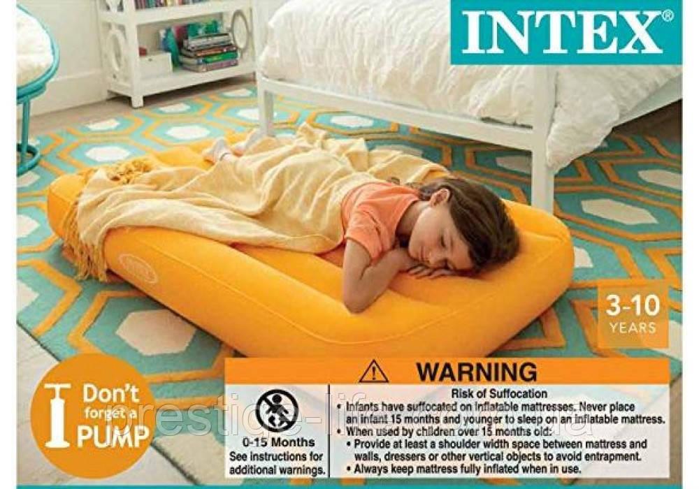 Детский надувной матрас Intex 66803 (157*88*18 см), разные цвета