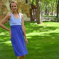 Платье-сарафан с секретом для кормления For Kids синее