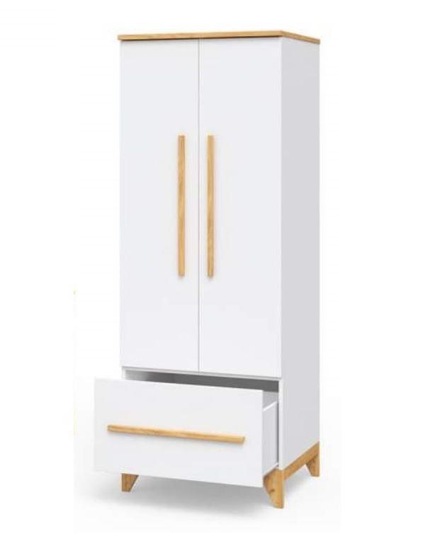 Шкаф для одежды в детскую Мила белый