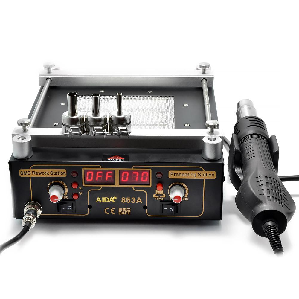Преднагреватель плат AIDA 853A инфракрасный, керамический, с термовоздушным феном и цифровой индикацией