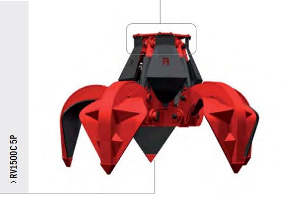 Многочелюстной грейфер Rozzi (для экскаваторов и погрузчиков) RV1500C