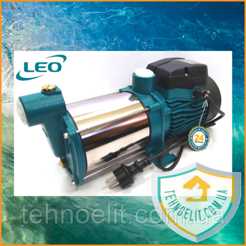 Многоступенчатый центробежный насос 0.75кВт Hmax 45м Qmax 100л/мин нерж LEO 3.0 (775415)