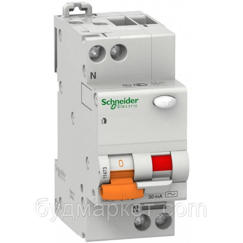 Вимикач автомат. диференц. навантаження ВД63 2П 63A 30МА Schneider 11455