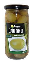 Оливки Домашні продукти 380г з халапеньо