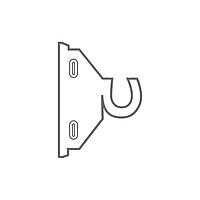 Универсальный крюк, Кронштейны