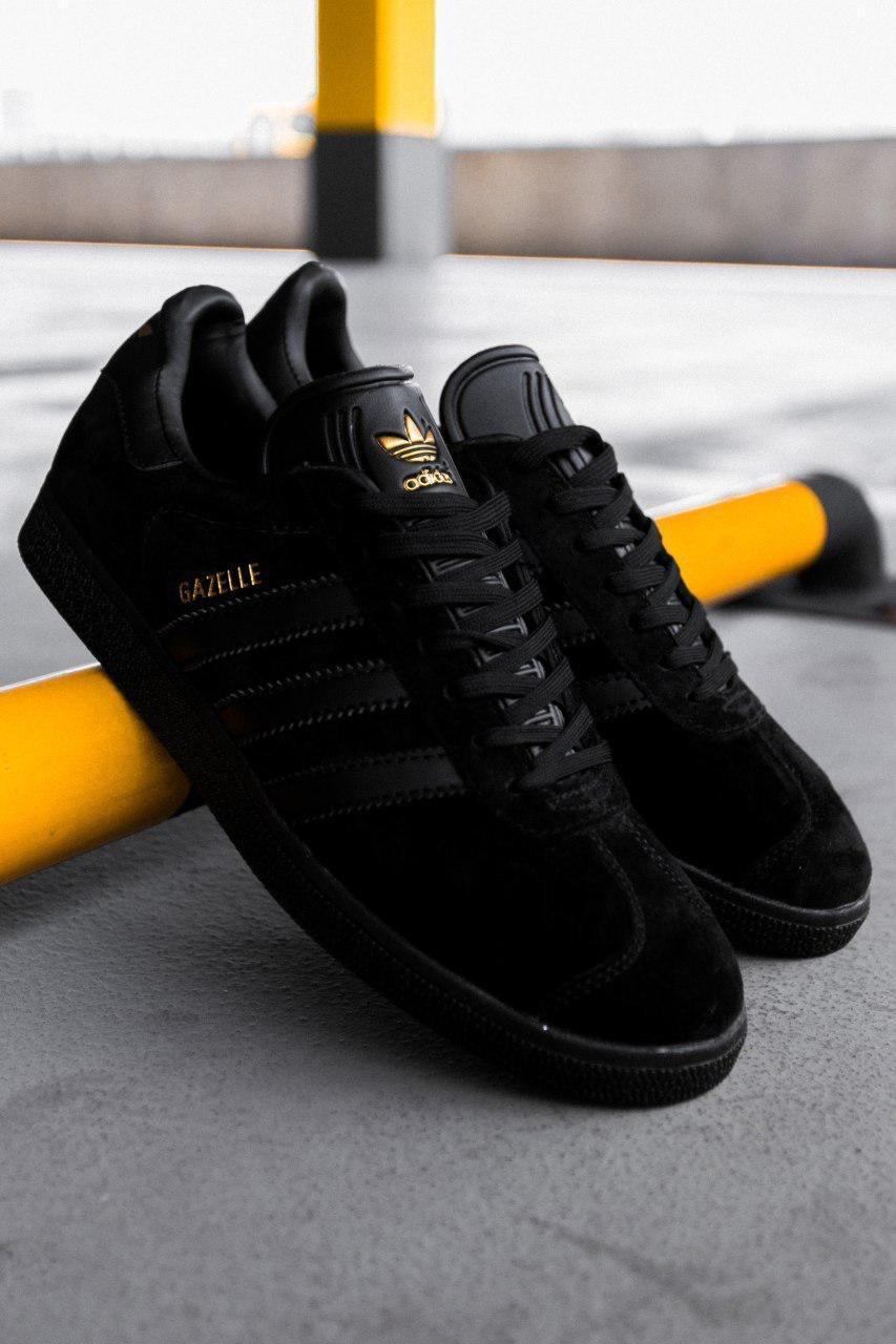 Мужские черные Кроссовки Adidas Gazelle