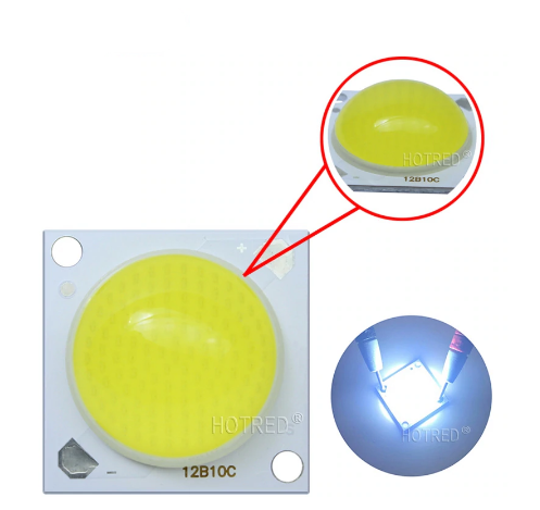 №331 Світлодіод 30w з лінзою 180 градусів, світлодіодна матриця 30w 32-34V 6500K