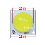 №331 Світлодіод 30w з лінзою 180 градусів, світлодіодна матриця 30w 32-34V 6500K, фото 3
