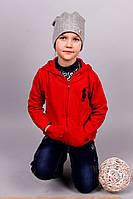 Спортивная красная кофта на замке для мальчика 120 р