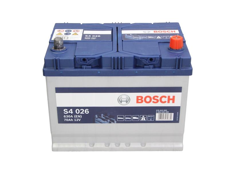 BOSCH  70Ah/630А S4 R+