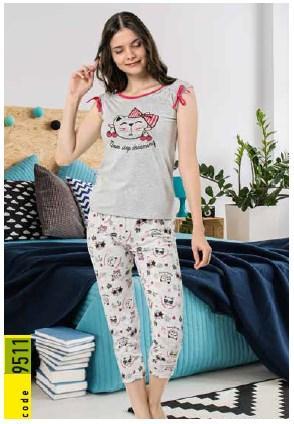 Пижама женская футболка с капри  IŞIK 9511