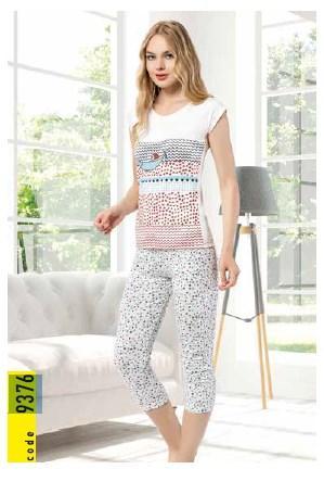 Пижама женская футболка с капри  IŞIK 9376