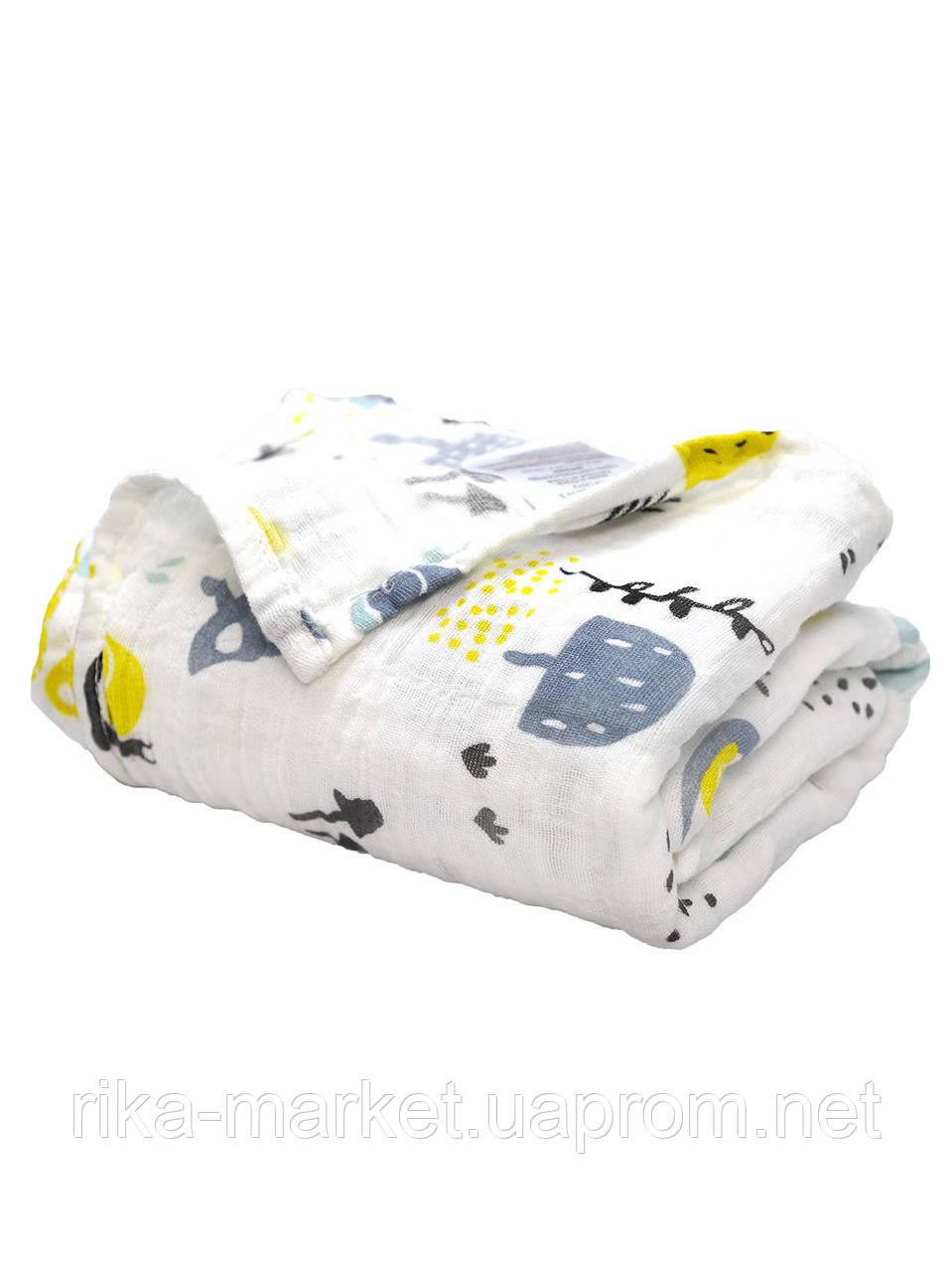 Муслиновая пеленка для ребенка 122*122