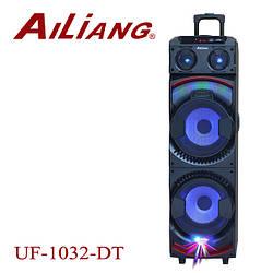 Аккумуляторная колонка чемодан Ailiang UF-1032-DT, беспроводная 10 дюймовая акустика, комбоусилитель
