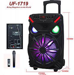 Аккумуляторная портативная колонка чемодан Ailiang UF-1719, беспроводная Bluetooth 12 дюймовая акустика