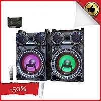 Комплект акустических систем для дискотеки Ailiang UF-1091 комбо + пульт ДУ, USB, FM, Bluetooth, Диджей Микшер