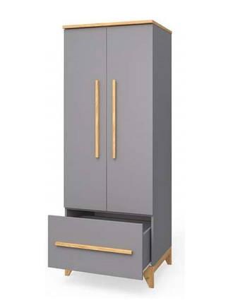 Шкаф для одежды Мила Серый, фото 2