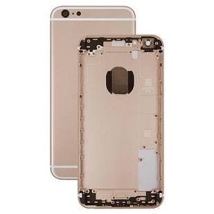 Корпус для iPhone 6S Plus, с держателем SIM-карты, с боковыми кнопками, золотистый