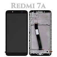 Модуль для Xiaomi Redmi 7A, черный, Дисплей с сенсорным экраном, с рамкой, Original