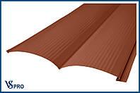 Сайдинг фасадный металлический Блок-Хаус, RAL 8004 Медно-коричневый (глянец).