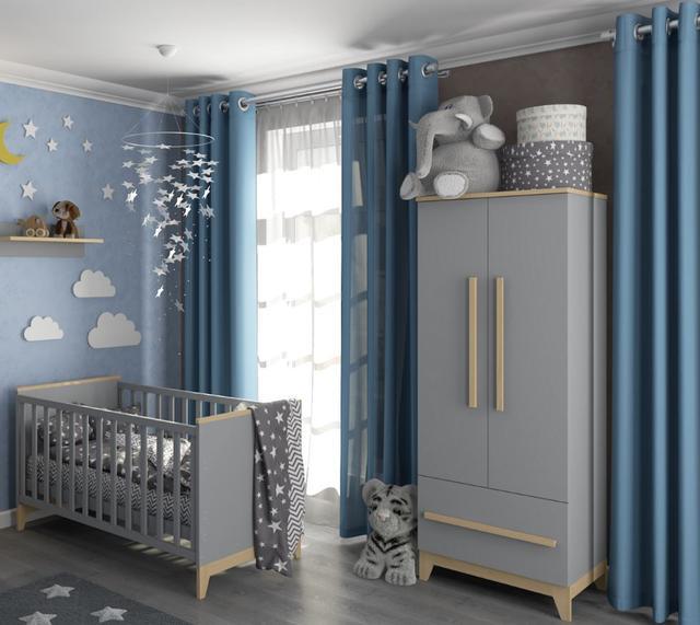 Шкаф для одежды в детскую Мила серый (2)