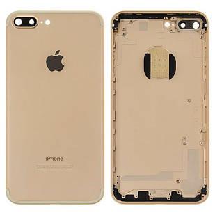 Корпус для iPhone 7 Plus, с держателем SIM-карты, с боковыми кнопками, золотистый