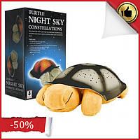 Детский музыкальный ночник проектор звездного неба, светильник черепаха Turtle small